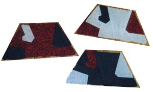 head trapezoids for Lizards quilt